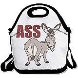 Lustige Cartoon-Esel-Arsch, große und dicke Neopren-Lunch-Taschen, isoliert, warm, mit Schultergurt, für Damen, Teenager, Mädchen, Kinder, Erwachsene