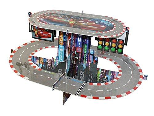 Procos 82640 Cupcake Ständer Cars Neon, 2 Etagen -
