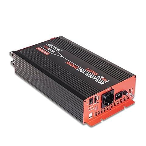 ECTIVE TSI-Serie | echter Sinus Wechselrichter mit NVS 12V zu 230 V | 7 Varianten: 500 - 3000 Watt Power Inverter | Spannungswandler Stromwandler Energy Converter Konverter Umwandler Backup System Wandler dc ac Inverter USV fähig