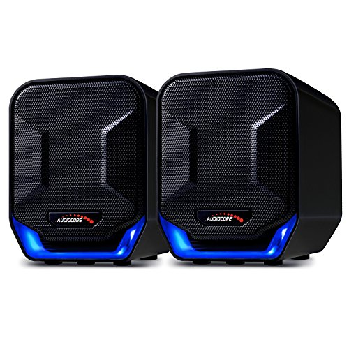 Preisvergleich Produktbild Audiocore AC865 B Stereo-Lautsprecher mit Beleuchtung 6W