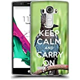 Super Galaxy Coque de Protection TPU Silicone Case pour // Q01014393 keep calm and carry on 682 // LG G4 H815
