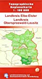 Landkreis Elbe-Elster /Landkreis Oberspreewald-Lausitz (Topographische Regionalkarte 1:100000, Land Brandenburg)