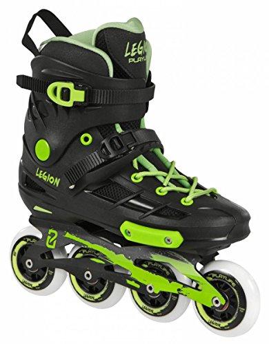 Playlife Legion Inline Skates Freeskating schwarz-neon grün black-green, 45
