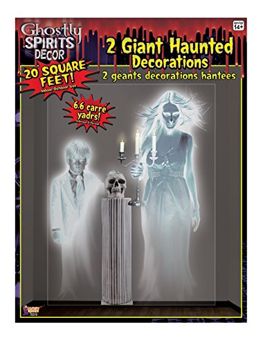 Large 4ft 5ft Haunted House Two 2 Ghostly Spirit Wall Border Scene Setter Decal - Haunted House Scena