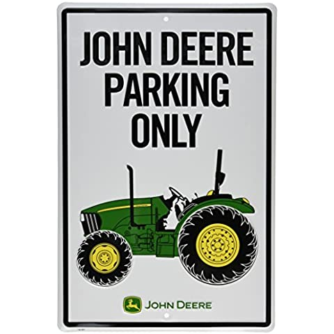 Targa in metallo di John Deere, trattore Park solo