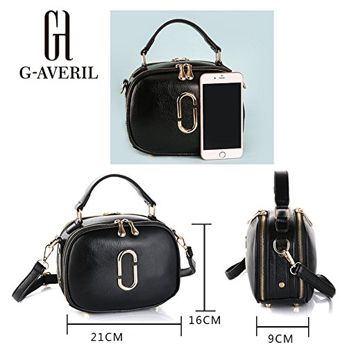 G-AVERIL, Borsa a mano uomo nero Black Red