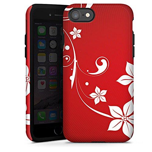 Apple iPhone X Silikon Hülle Case Schutzhülle Liebe Herz Muster Tough Case glänzend