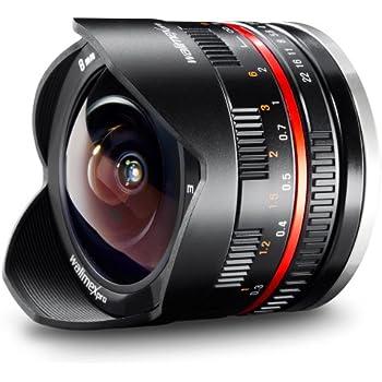 Walimex Pro 8mm 1:2,8 CSC Fish-Eye-Objektiv (feste Gegenlichtblende, UMC Linsen, große Tiefenschärfe) für Sony E Objektivbajonett schwarz