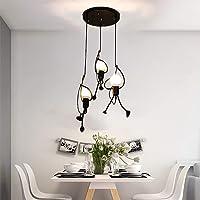 Lampe Suspension Lumière Suspendu Pendante fer Moderne Créatif Plafonnier Fer E27 Dessin animé Lustre pour personnes…