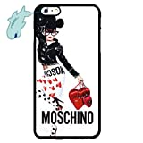 Case for iPhone 6/6s Plus, Moschino Brand Logo iPhone 6 Plus/5.5 Inch Case Hard Plastic Skin Shell