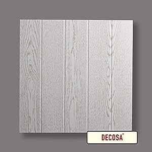 Decosa Dalle de plafond Lyon, frêne blanc 50 x 50 cm - PRIX SPECIAL GROS CONDITIONNEMENT(= 30m2)