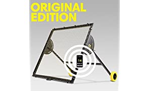 m-station Talent Original Football Rebounder with Soccer Training App Football Training Equipment Sports Gear for Improving Soccer Skills World Leading Rebounder Used by Real Madrid 55 inch x 55 inch