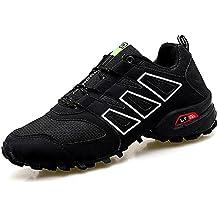 CAGAYA Zapatillas de Senderismo Hombre Trekking Zapatillas Antideslizante Aire Libre Calzado Deportivo Zapatillas de Trail Running