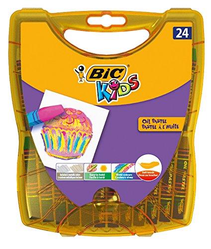 BIC KiDS 940759Oil Pastels ölmalkreide Oil Pastels, de 24colores surtidos Caja 24unidades)