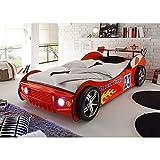 Energy Autobett Kinderbett Bett rot 90 x 200 cm inkl. LED Beleuchtung