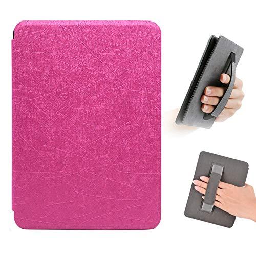 FSCOVER Hülle für Kindle Paperwhite 2018, Prämie Leichte PU-Leder-Schutzhülle mit Handschlaufe für Kindle Paperwhite 10. Generation 2018 Release, Pink