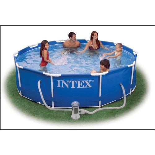Preisvergleich Produktbild Intex 56996GS Metal-Frame Pool-Set 366 x 76 cm mit