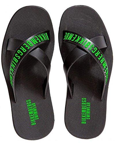 Bikkembergs 2016 croisées Mules homme beachwear Slippers men mer piscine Noir - noir