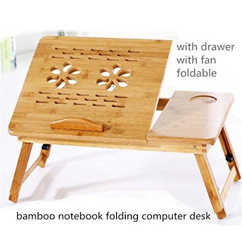 Bamboo Portable Notebook pieghevole leggio scrivania Altezza regolabile vassoio Laptop