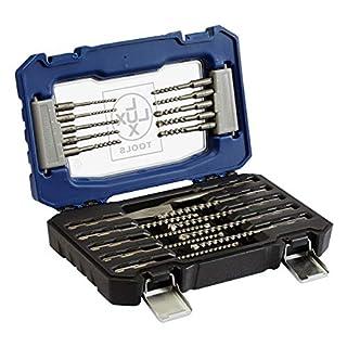 LUX-TOOLS SDS-Plus Bohrer- und Meißel-Satz, 20-teilig   Meißel- und Hammerbohrer-Set im Koffer inkl. 18 Beton- & Steinbohrern sowie Flachmeißel & Spitzmeißel mit SDS-Plus Aufnahme
