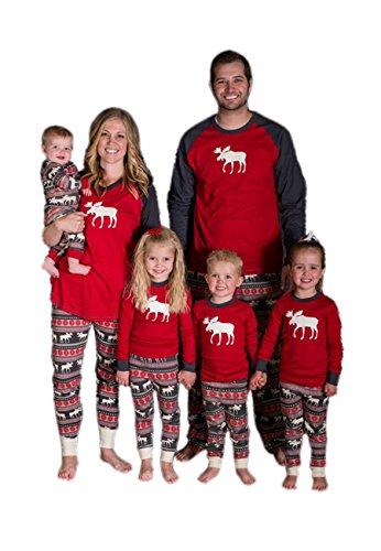 OMZIN Weihnachtsbaum Pyjamas Familie passenden Nachtwäsche Kinder PJs Hosen Set (Papa, L) (Tun Ich Daddy)