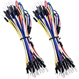Quimat 65pcs Assorted Length Multicoloured Solderless Flexible Breadboard Jumper Cable Wires Male to Male for Arduino
