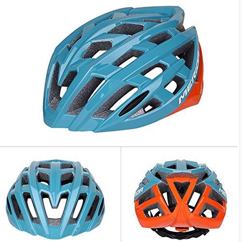 Gyj&mmm Herren/Damen Fahrradhelme, Sportleichte Fahrradhelme, Rennrad Mountainbike Reithelme 58-61 cm,Blau