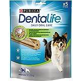 Dentalife Cane Snack per l'Igiene Orale, Taglia Medium, 115 g - Confezione da 5 Pezzi