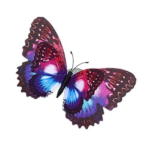 YYL Sucker Simulation Papillon Carreaux Décoratifs et Verre,Violet,Taille Unique