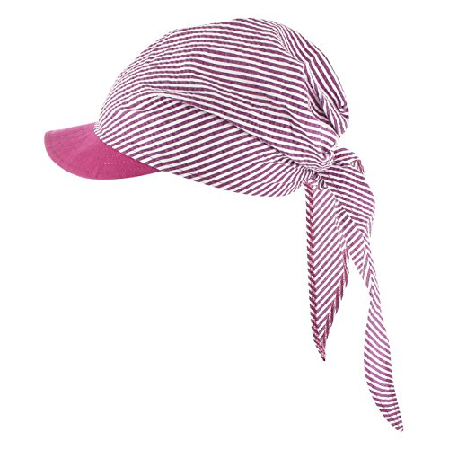 McBURN McBurn Jasmine Bandana Cap Damen | Strandcap Stoffhaube Frühling-Sommer | One Size Fuchsia