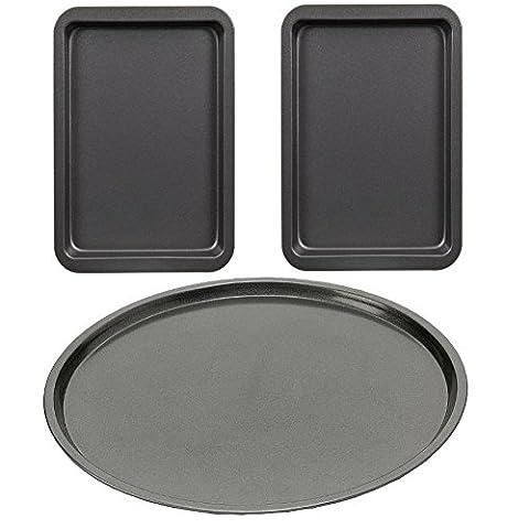 Sweety Maison Lot de 3en acier carbone de cuisine antiadhésif de cuisson à rôtir en étain plaque de cuisson