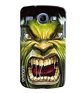 Omnam Hulkman Giving Annoying Pose Fully Mouth Designer Back Cover Case For Samsung Galaxy Core i8262