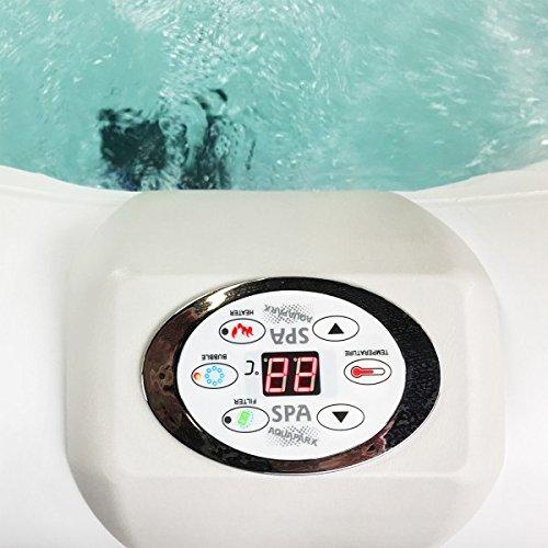 AQUAPARX Whirlpool AP-550SPA *oval 190x120cm* Pool 2Personen Wellness Spa Whirlpoolzubehör Badewanne 2P Wanne Indoor Outdoor Heizung aufblasbar - 6