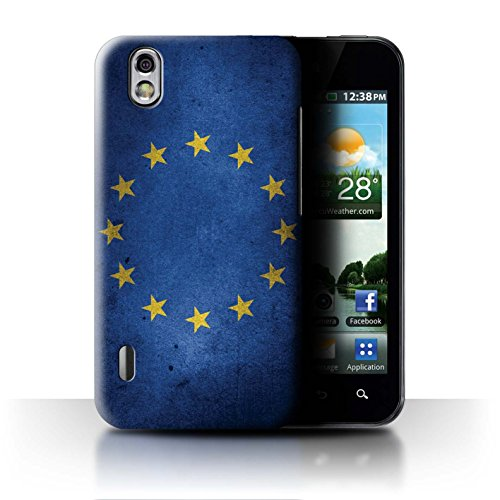 Stuff4® Hülle/Case für LG Optimus Black P970 / EU Flagge Muster/Großbritannien/Britischer Stolz Kollektion (Lg Optimus P970 Black)