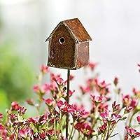 G & F 10020 Fairy Mini Garden Miniature Bird House Pick Wallpaper - Yellow from G & F