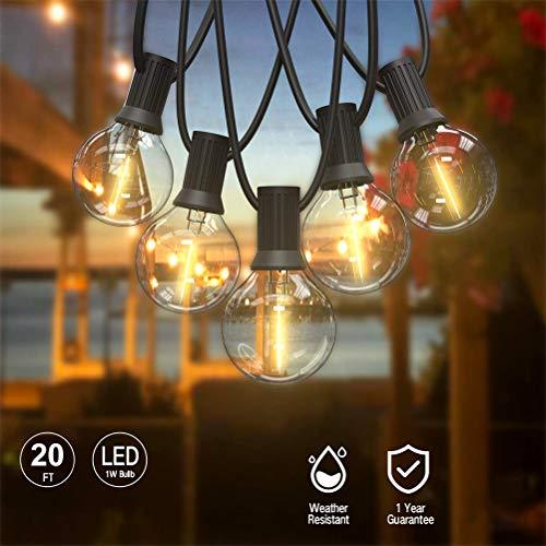 Sdgfd Bombillas de Hadas en el Exterior, Bombilla de Hadas LED Retro G40, Luces de Hadas Impermeables...