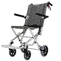 Wheelchair Folding lightweight wheelchair Elderly disabled wheelchair trolley