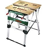 Bosch DIY PWB 600 Arbeitstisch, 4 Spannbacken, Karton (max. Tragfähigkeit 200 kg, Arbeitshöhe 834 mm, max. Spannbreite mit Klemme 525 mm)