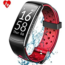 Kobwa Fitness Tracker, Activity Tracker Heart Rate Monitor Smart Watch with Sleep Monitor, IP68 Water Resistant Walking Pedometer Band for IOS/Android Smartphone