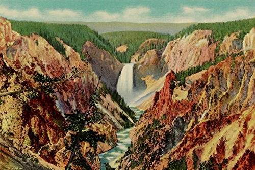 The Poster Corp Unknown - Yellowstone Park 1920 Grand Canyon from Artists Point Kunstdruck (60,96 x 91,44 cm) -