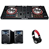 Numark MixTrack Pro III | 2 Deck DJ Controller mit Audio I/O + Serato DJ Intro & Prime Loop Remix Tool Kit + Numark N-Wave 360 Aktiver 2-Wege Desktop Monitor Lautsprecher (für DJ & PC / Mac, 60 Watt) + Numark HF325 | Professioneller On-Ear DJ Kopfhörer mit legendärer Numark Soundqualität Bundle