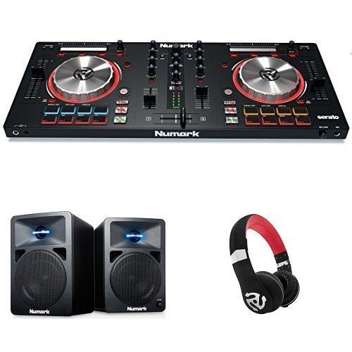 Numark MixTrack Pro III   2 Deck DJ Controller mit Audio I/O + Serato DJ Intro & Prime Loop Remix Tool Kit + Numark N-Wave 360 Aktiver 2-Wege Desktop Monitor Lautsprecher (für DJ & PC / Mac, 60 Watt) + Numark HF325   Professioneller On-Ear DJ Kopfhörer mit legendärer Numark Soundqualität Bundle
