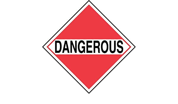 Black on White//Red 10-3//4 Width x 10-3//4 Length Accuform Signs MPLM01CT1 PF-Cardstock Mixed Loads DOT Placard Legend DANGEROUS