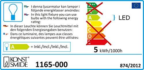 Konst Smide 1165-000 - Cadena de luces led para árbol de Navidad (10 velas luminosas pequeñas, 10 diodos de luz blanca cálida, transformador interno de 4,5 V, incluye interruptor)
