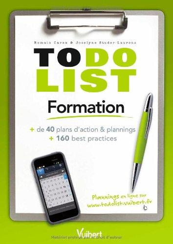 Formation - + de 40 plans d'action & plannings et 160 best practices par Joselyne Studer-Laurens