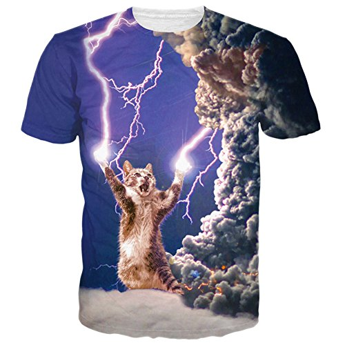 Bfustyle Unisexe 3d Thundercat Printed Graphic T-shirts Tees