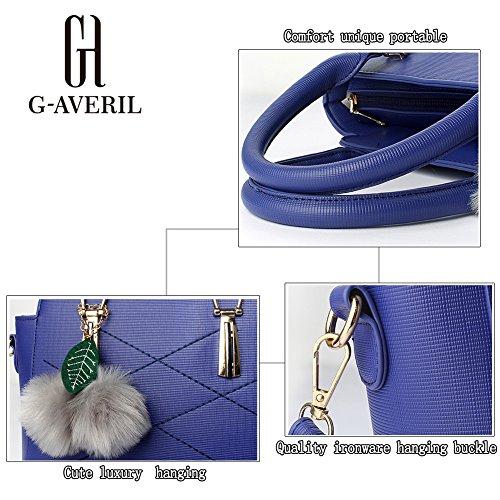 (G-AVERIL)nuovo pacchetto onda signore borsa Messenger Bag donne per le donne borsa blu