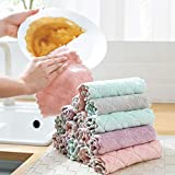 Kitchen Dish Towels,Assorted Color Microfiber Dish Towels,Soft in Water,Scratch Free, Super Absorbent and Lint Free Kitchen T