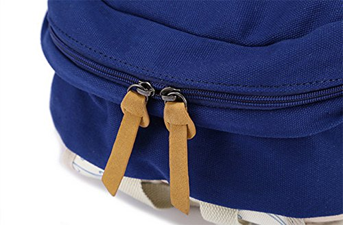 Hosaire 1X Ragazze Ladies Womens stampa tela zaino zaino scuola borsa Casual Borsa zainetto,rosa,Dimensioni: 30 * 17 * 44 centimetri Blu