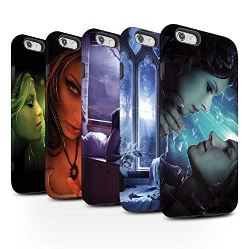 Officiel Elena Dudina Coque / Matte Robuste Antichoc Etui pour Apple iPhone 6S+/Plus / Coeur flamboyant Design / Art Amour Collection Pack 7pcs